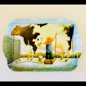 ASHDENE Contemporary Country Cow Melamine Tray